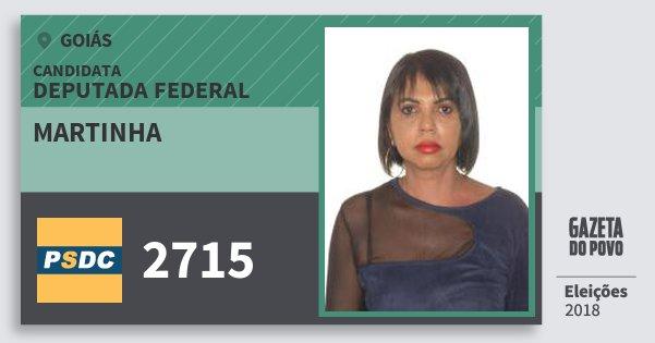 Santinho Martinha 2715 (DC) Deputada Federal | Goiás | Eleições 2018