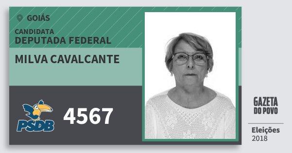 Santinho Milva Cavalcante 4567 (PSDB) Deputada Federal   Goiás   Eleições 2018