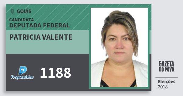 Santinho Patricia Valente 1188 (PP) Deputada Federal | Goiás | Eleições 2018