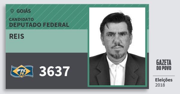 Santinho Reis 3637 (PTC) Deputado Federal   Goiás   Eleições 2018