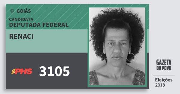 Santinho Renaci 3105 (PHS) Deputada Federal   Goiás   Eleições 2018