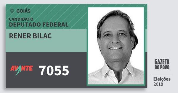 Santinho Rener Bilac 7055 (AVANTE) Deputado Federal | Goiás | Eleições 2018