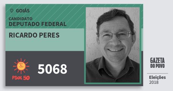 Santinho Ricardo Peres 5068 (PSOL) Deputado Federal | Goiás | Eleições 2018