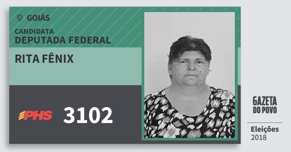 Santinho Rita Fênix 3102 (PHS) Deputada Federal | Goiás | Eleições 2018