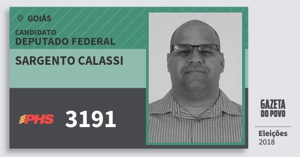 Santinho Sargento Calassi 3191 (PHS) Deputado Federal   Goiás   Eleições 2018