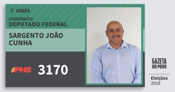 Santinho Sargento João Cunha 3170 (PHS) Deputado Federal | Goiás | Eleições 2018