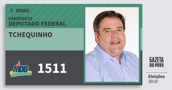 Santinho Tchequinho 1511 (MDB) Deputado Federal | Goiás | Eleições 2018