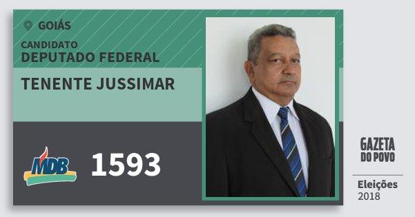 Santinho Tenente Jussimar 1593 (MDB) Deputado Federal   Goiás   Eleições 2018
