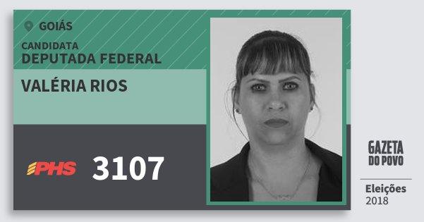 Santinho Valéria Rios 3107 (PHS) Deputada Federal   Goiás   Eleições 2018