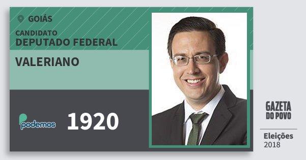 Santinho Valeriano 1920 (PODE) Deputado Federal   Goiás   Eleições 2018