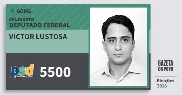 Santinho Victor Lustosa 5500 (PSD) Deputado Federal   Goiás   Eleições 2018