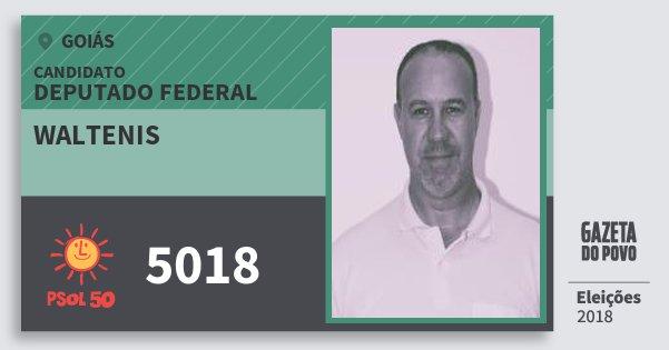 Santinho Waltenis 5018 (PSOL) Deputado Federal | Goiás | Eleições 2018