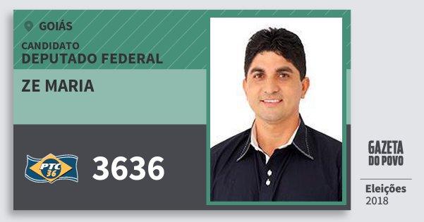 Santinho Ze Maria 3636 (PTC) Deputado Federal | Goiás | Eleições 2018