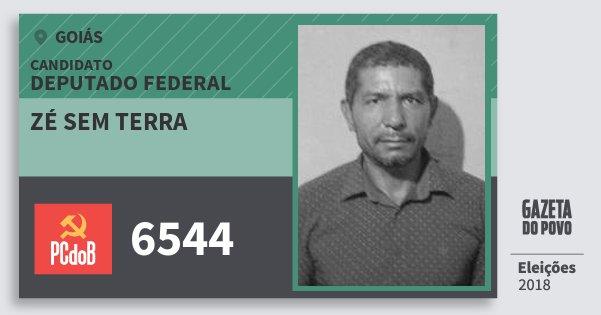 Santinho Zé Sem Terra 6544 (PC do B) Deputado Federal | Goiás | Eleições 2018