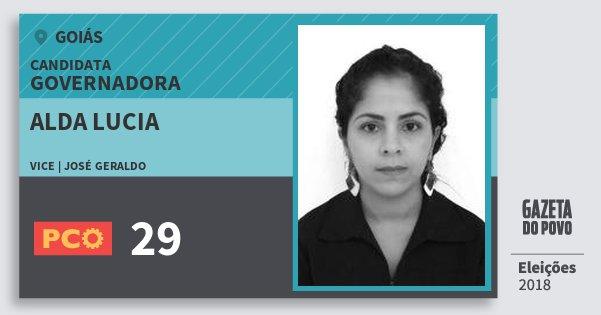 Santinho Alda Lucia 29 (PCO) Governadora | Goiás | Eleições 2018