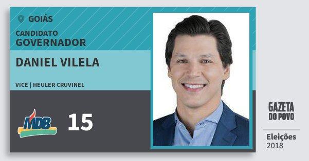 Santinho Daniel Vilela 15 (MDB) Governador | Goiás | Eleições 2018