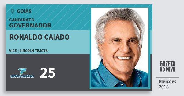 Santinho Ronaldo Caiado 25 (DEM) Governador | Goiás | Eleições 2018