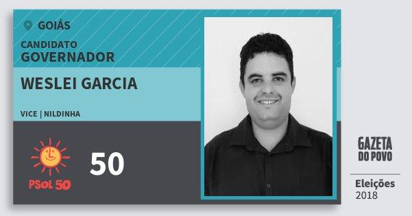 Santinho Weslei Garcia 50 (PSOL) Governador | Goiás | Eleições 2018