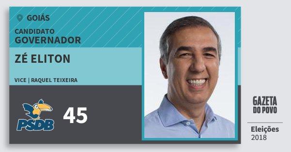 Santinho Zé Eliton 45 (PSDB) Governador | Goiás | Eleições 2018