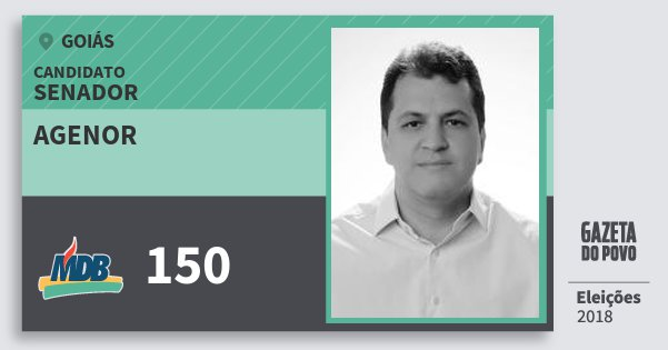 Santinho Agenor 150 (MDB) Senador | Goiás | Eleições 2018