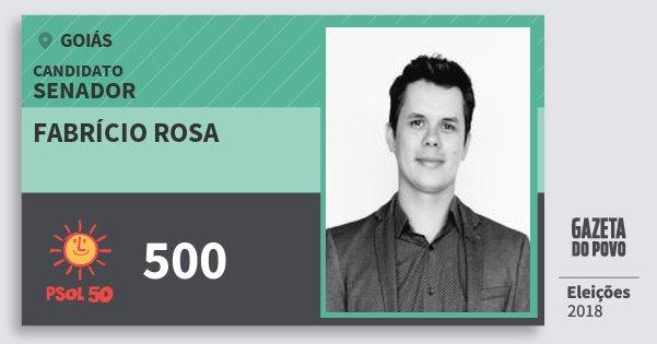 Santinho Fabrício Rosa 500 (PSOL) Senador | Goiás | Eleições 2018