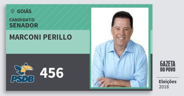 Santinho Marconi Perillo 456 (PSDB) Senador | Goiás | Eleições 2018