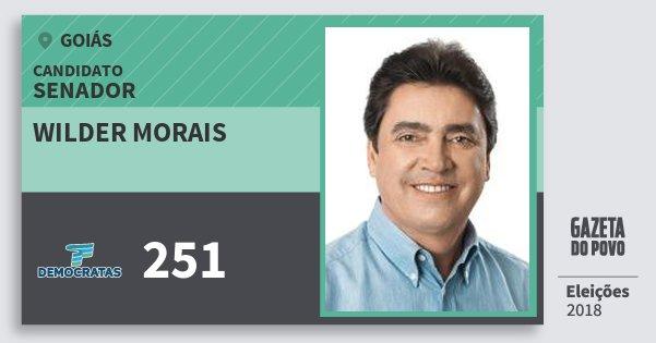 Santinho Wilder Morais 251 (DEM) Senador | Goiás | Eleições 2018