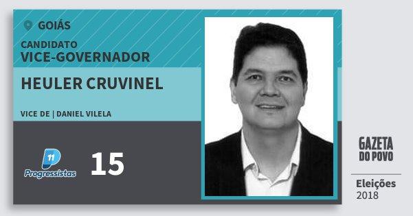 Santinho Heuler Cruvinel 15 (PP) Vice-governador | Goiás | Eleições 2018