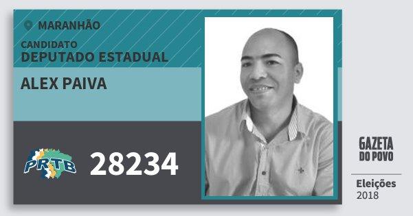 Santinho Alex Paiva 28234 (PRTB) Deputado Estadual | Maranhão | Eleições 2018
