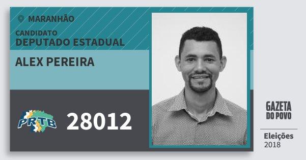Santinho Alex Pereira 28012 (PRTB) Deputado Estadual | Maranhão | Eleições 2018