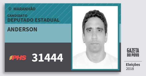 Santinho Anderson 31444 (PHS) Deputado Estadual | Maranhão | Eleições 2018