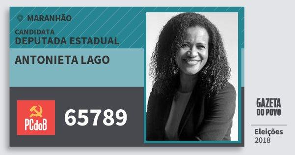 Santinho Antonieta Lago 65789 (PC do B) Deputada Estadual | Maranhão | Eleições 2018
