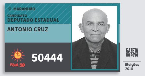 Santinho Antonio Cruz 50444 (PSOL) Deputado Estadual | Maranhão | Eleições 2018