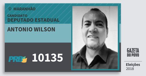 Santinho Antonio Wilson 10135 (PRB) Deputado Estadual | Maranhão | Eleições 2018