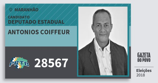 Santinho Antonios Coiffeur 28567 (PRTB) Deputado Estadual | Maranhão | Eleições 2018