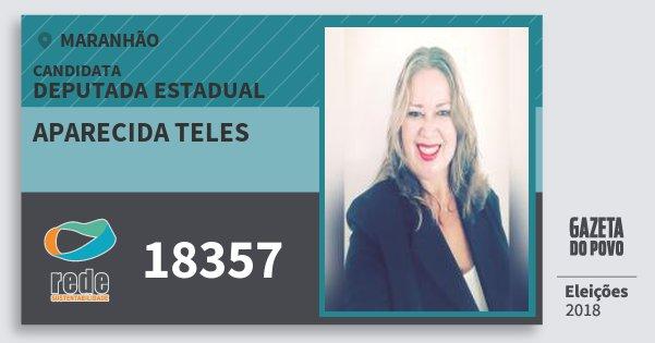 Santinho Aparecida Teles 18357 (REDE) Deputada Estadual | Maranhão | Eleições 2018