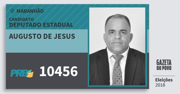 Santinho Augusto de Jesus 10456 (PRB) Deputado Estadual | Maranhão | Eleições 2018