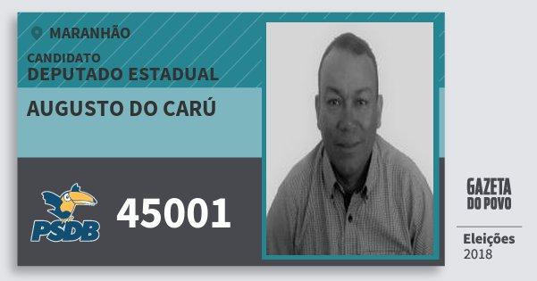 Santinho Augusto do Carú 45001 (PSDB) Deputado Estadual | Maranhão | Eleições 2018