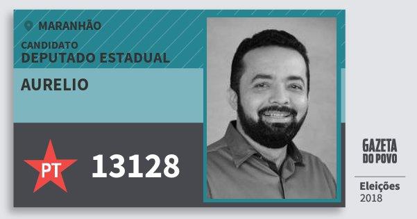 Santinho Aurelio 13128 (PT) Deputado Estadual | Maranhão | Eleições 2018