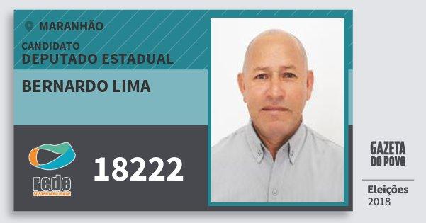 Santinho Bernardo Lima 18222 (REDE) Deputado Estadual | Maranhão | Eleições 2018