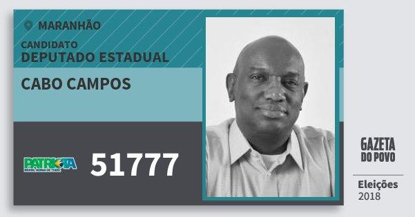 Santinho Cabo Campos 51777 (PATRI) Deputado Estadual | Maranhão | Eleições 2018