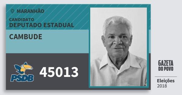 Santinho Cambude 45013 (PSDB) Deputado Estadual | Maranhão | Eleições 2018