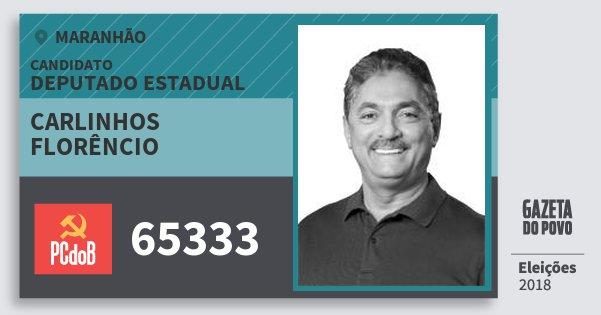 Santinho Carlinhos Florêncio 65333 (PC do B) Deputado Estadual | Maranhão | Eleições 2018