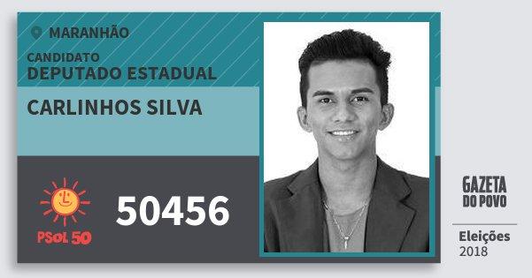 Santinho Carlinhos Silva 50456 (PSOL) Deputado Estadual | Maranhão | Eleições 2018