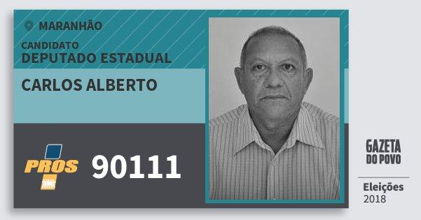 Santinho Carlos Alberto 90111 (PROS) Deputado Estadual | Maranhão | Eleições 2018
