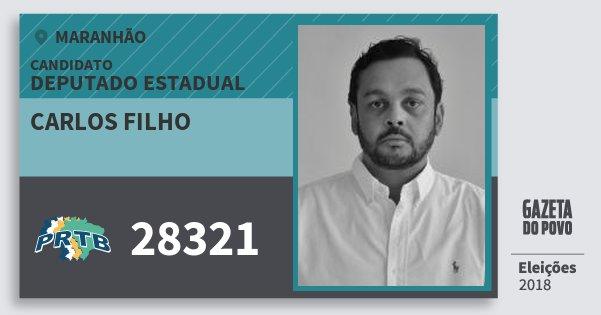 Santinho Carlos Filho 28321 (PRTB) Deputado Estadual | Maranhão | Eleições 2018