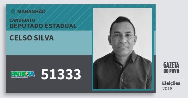 Santinho Celso Silva 51333 (PATRI) Deputado Estadual | Maranhão | Eleições 2018