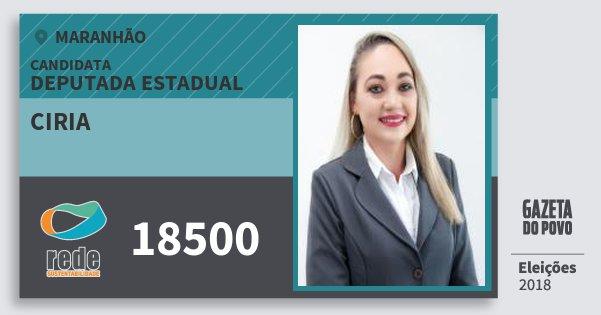 Santinho Ciria 18500 (REDE) Deputada Estadual   Maranhão   Eleições 2018