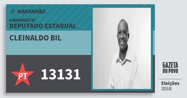 Santinho Cleinaldo Bil 13131 (PT) Deputado Estadual | Maranhão | Eleições 2018