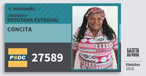 Santinho Concita 27589 (DC) Deputada Estadual | Maranhão | Eleições 2018